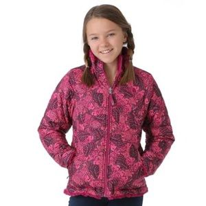Girls North Face reversible winter jacket